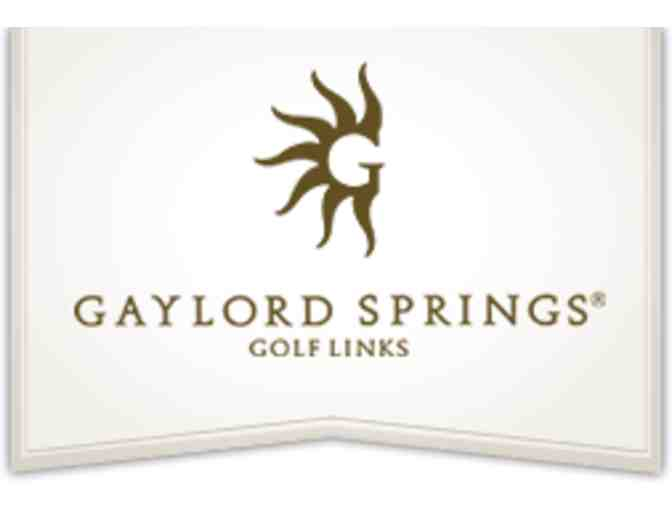 Gaylord Springs Golf Links - One foursome with carts