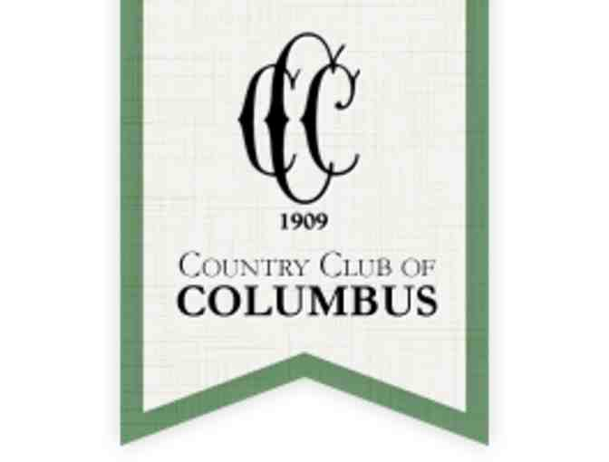 Country Club of Columbus - a foursome with carts