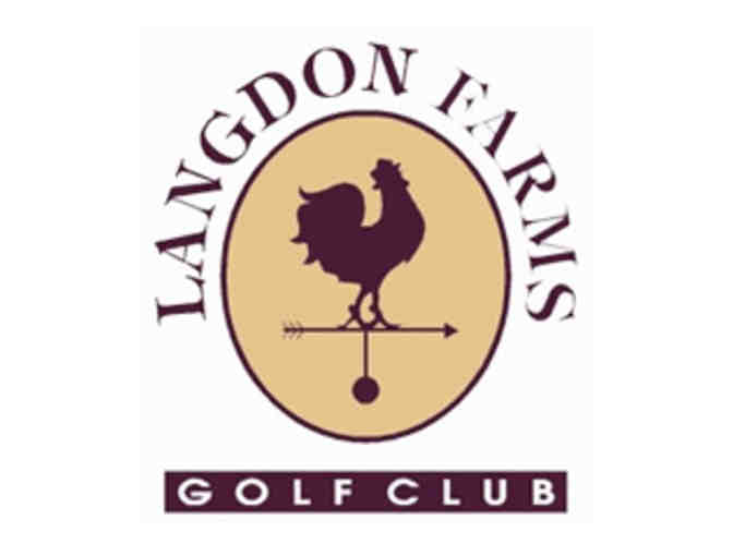 Langdon Farms Golf Club - One foursome with carts