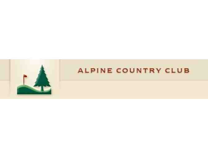 Alpine Country Club - One foursome with carts and lunch