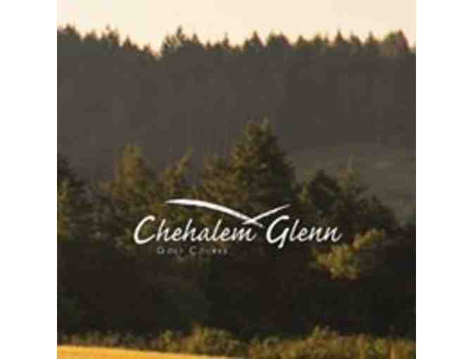 Chehalem Glenn Golf Course - a foursome with carts
