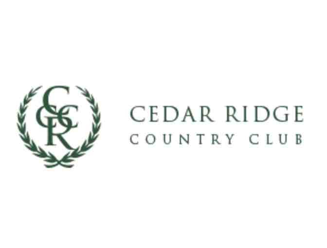 Cedar Ridge Country Club - One foursome with carts