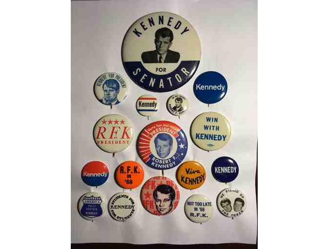 Authentic RFK campaign button collection