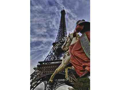 Eiffel Rider, 2016 Framed Photograph by Mike Foley