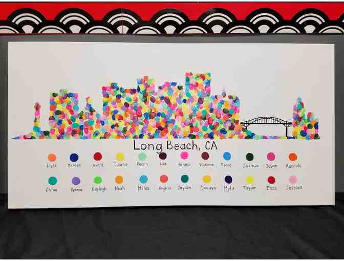 3rd Grade Item #2 - Long Beach Skyline Canvas