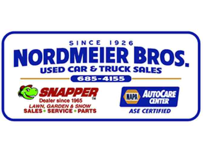 Oil Change & Tire Rotation at Nordmeier Bros.