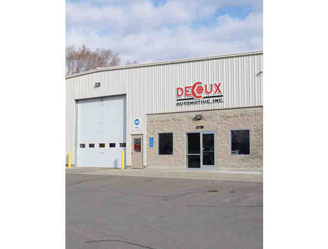 DeCoux Automotive Oil Change (Item 1)