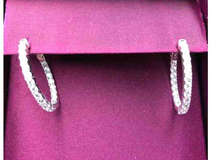 Sterling Silver Cubic Zirconia Inside Out Earrings