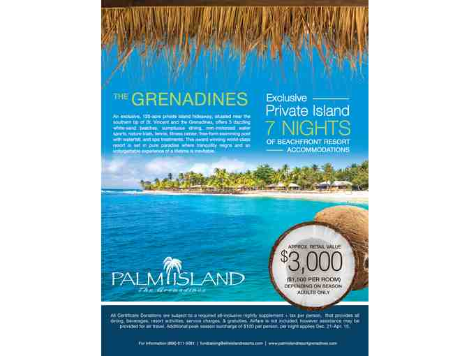 7 Night Stay in the Grenadines at Palm Island<span class=