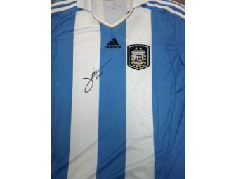 Signed Lionel Messi Argentina Home Shirt (1 of 2)