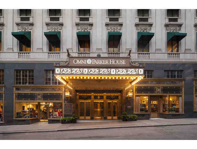 OMNI PARKER HOUSE HOTEL, Boston, Mass - One (1) Free Night & Breakfast for two (2)