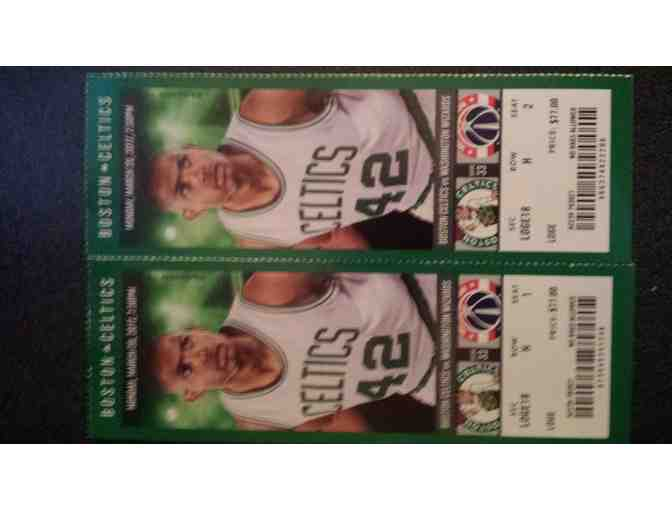 BOSTON CELTICS BASKETBALL: Two (2) Awesome Boston Celtics Basketball Tickets