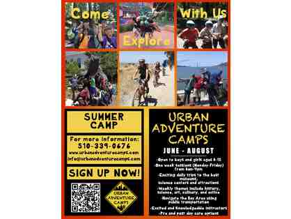$200 off a week of Urban Adventure camp