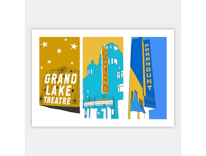 'Three Theaters' art print by Shane Donahue