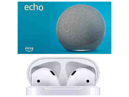 Amazon Echo 4th Gen. AND Apple AirPods