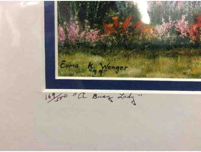 """A Busy Lady"" Signed and Numbered Print by Erma K. Wenger - Photo 2"