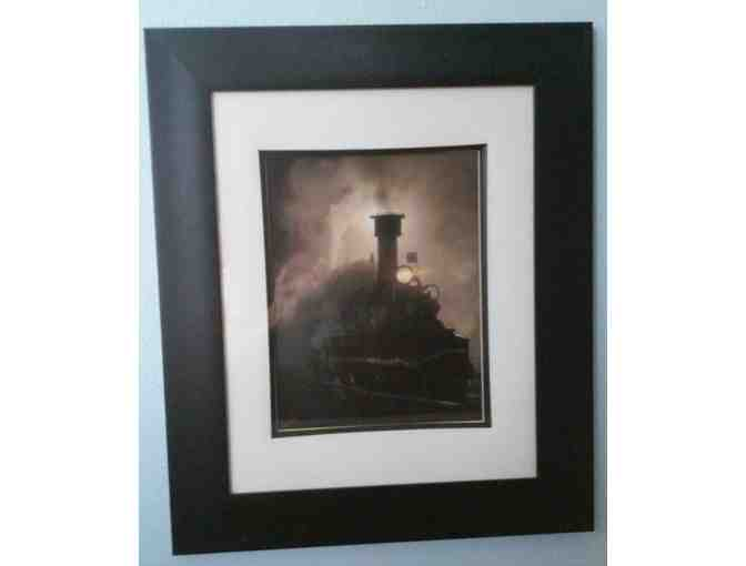Framed Picture  of Train Engine