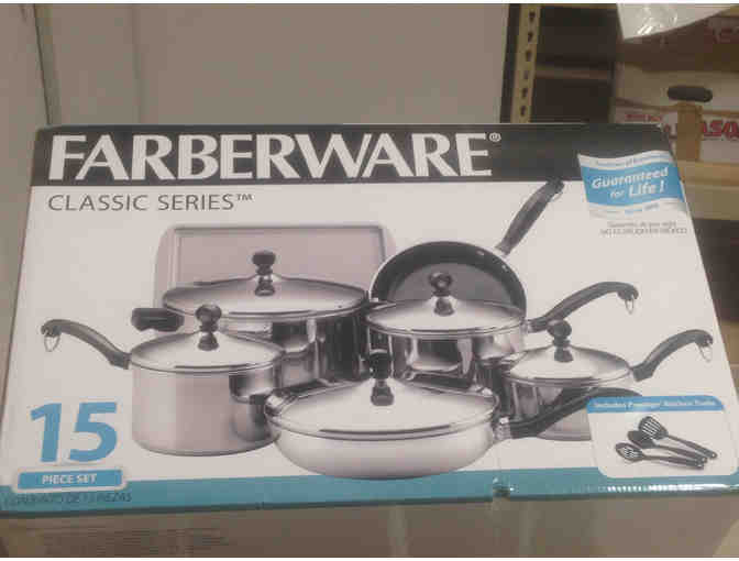 Cookware Package - 15-piece Cookware set, Cookbook, and $100 Whole Foods Gift Card