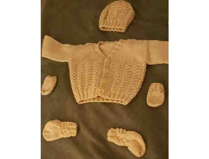 Baby Stroller/Car Seat Blanket with Cardigans, Hats, Socks & Mittens - Photo 1