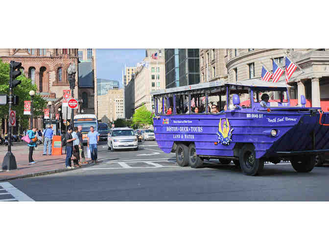 SEE BOSTON BY LAND AND WATER - Duck Tour for Four