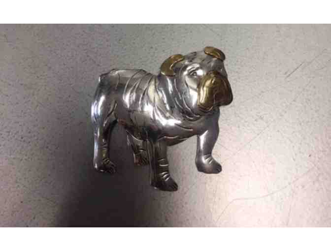 Hammered Bulldog Necklace/Pin