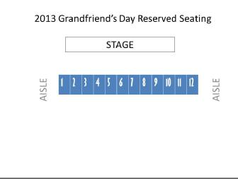 Reserved seating for Grandfriends' Day 2014