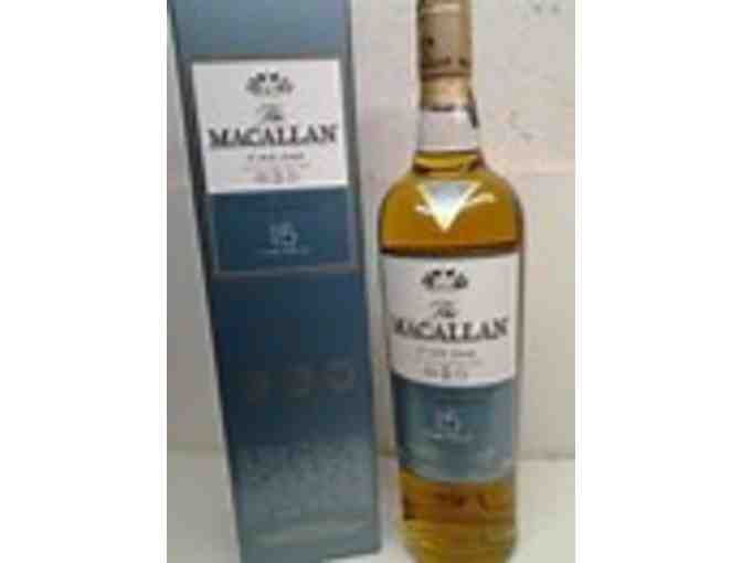 One bottle of Macallan Fine Oak 15 year Triple Cask Scotch