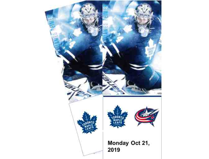 Columbus Blue Jackets-Oct 21,  Red section 121M (Scotia Club) Row 24 Seats 16-17 (aisle
