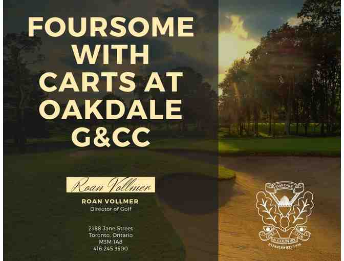 FOURSOME WITH CARTS AT OAKDALE G&CC