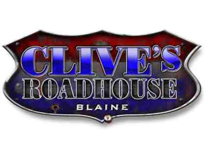 $75 in Clive's Roadhouse Gift Cards (multiple locations)