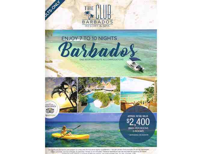 The Club Barbados Resort & Spa. Up to 10 Nights, 3 Rooms