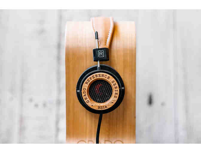 A Pair of Grado RS1e Mahogany Headphones