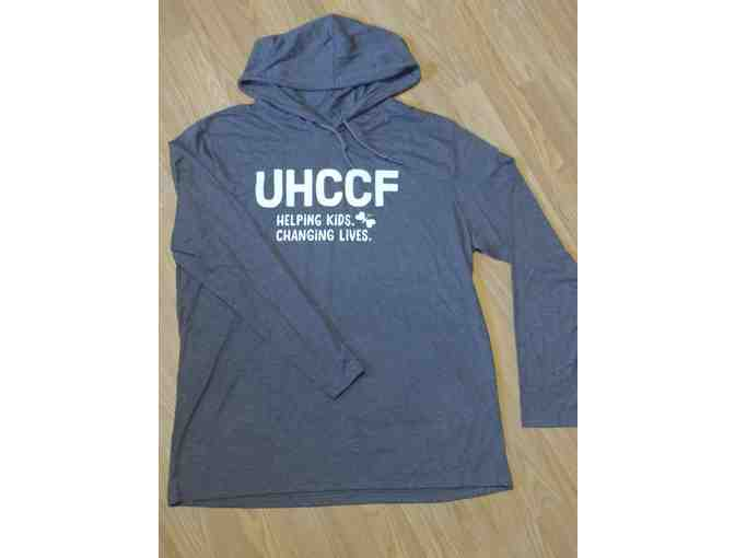 Mens's UHCCF Pullover Hood Tee - Dark Grey - Size X-Large - Photo 1