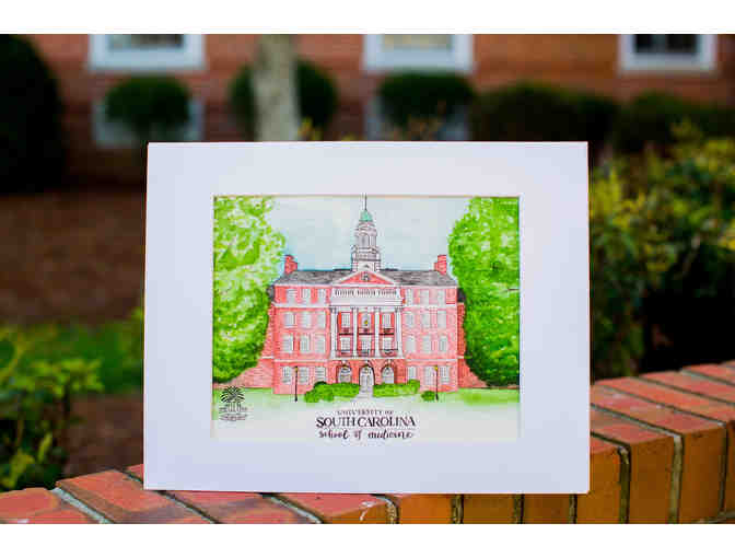 Custom USC School of Medicine Watercolor Painting