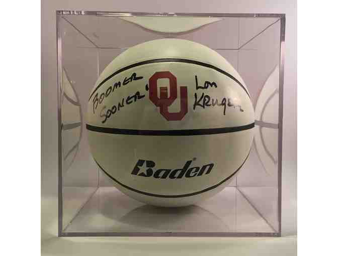 OU Basketball signed by Lon Kruger