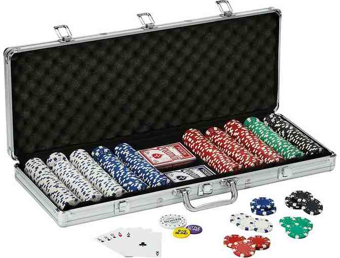 Fat Cat Texas Hold 'em Clay Poker Chip Set with Aluminum Case