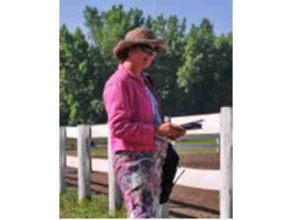$150 toward dressage technical delegate services of Michelle D. King, TD (r)