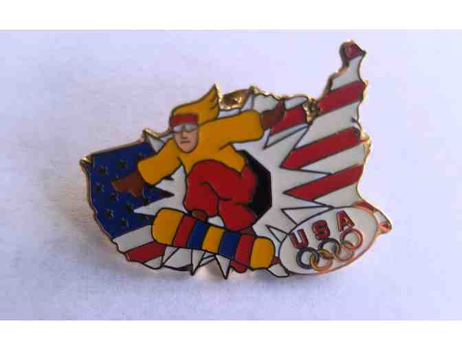 USA Snowboard Pin