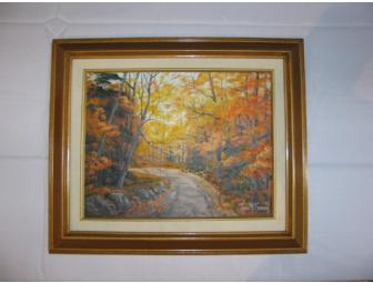 Framed Vermont Landscape Oil Painting by Ann McFarren