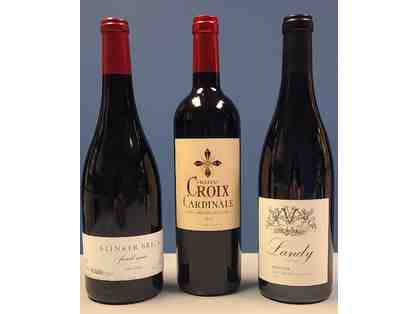 3 Bottles of Red Wine from California and France