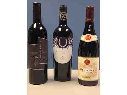 3 Bottles of Red Wine from California, Italy and France