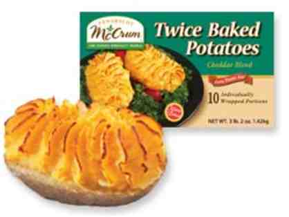 10-Pack of Penobscot McCrum Cheese Flavored Twice Baked Potatoes (Local Item Only)