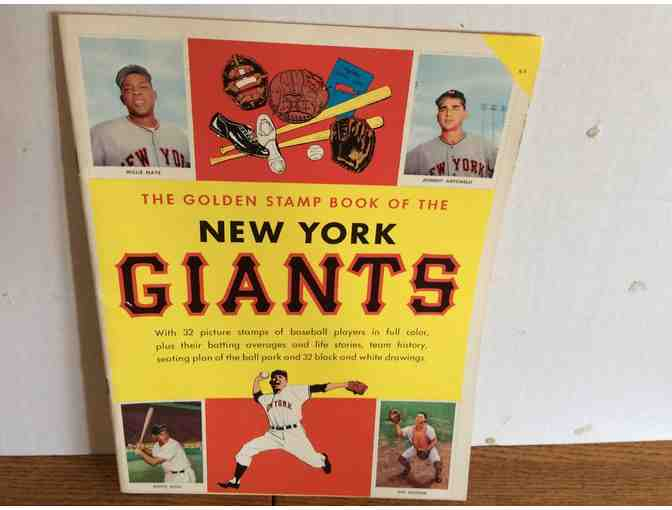 1958 New York Baseball Giants Golden Stamp Book