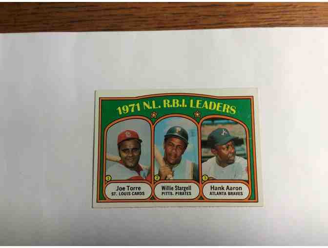 1972 Topps Vintage Baseball Card - Torre, Stargell, Aaron RBI Leaders