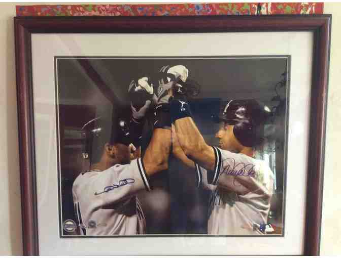 AUTOGRAPHED BY Derek Jeter and Gary Sheffield  Photo