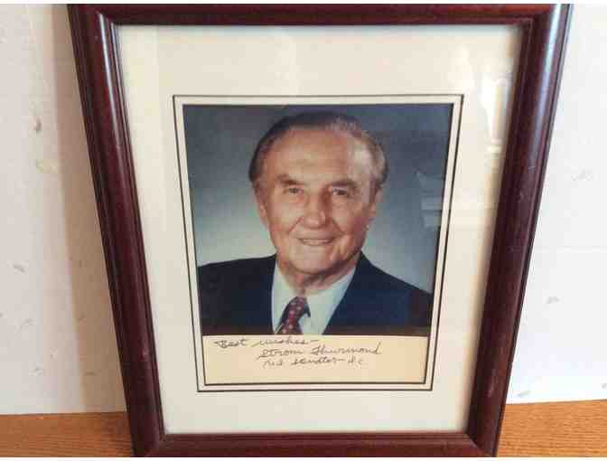 Autographed Photo of United States Senator Strom Thurmond