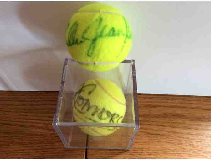 Billie Jean King - Jimmy Connors Autographed Tennis Balls
