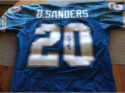 NFL Authentic Autographed Barry Sanders Jersey