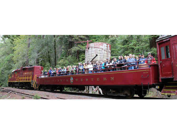 Two roundtrip tickets on the Historic Skunk Train