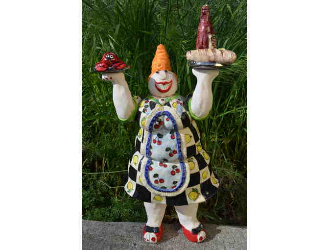 Ceramic Lady Chef- a Cynthia Hipkiss Masterpiece!